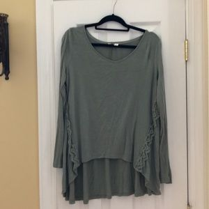 Long Sleeve top embellished with lace